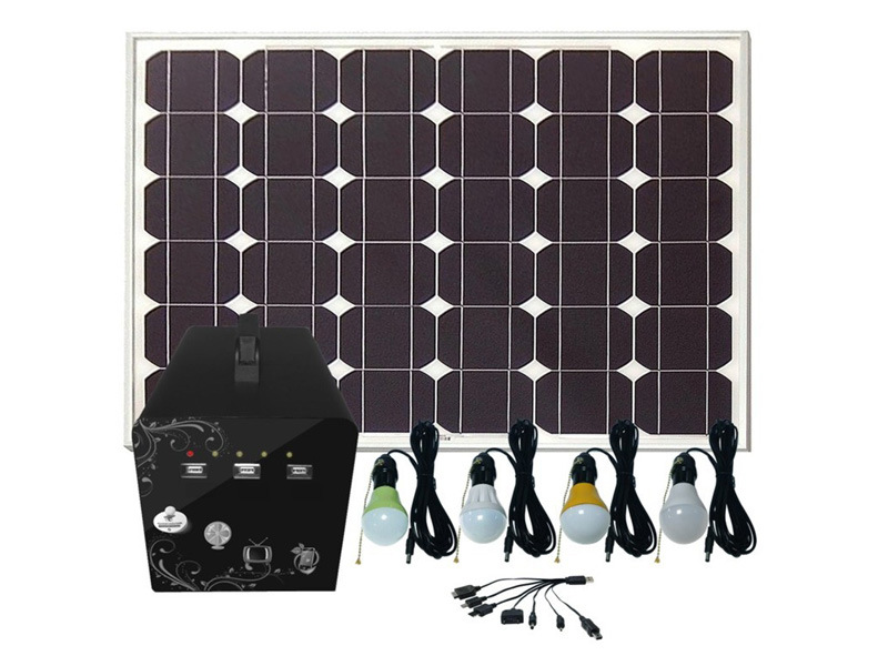 60W Solar Home Light with 3W LED Lamps