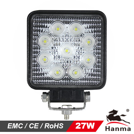 4X4 27W LED Work Light for Driving Lamp Offroad Tractor Auto Lamp