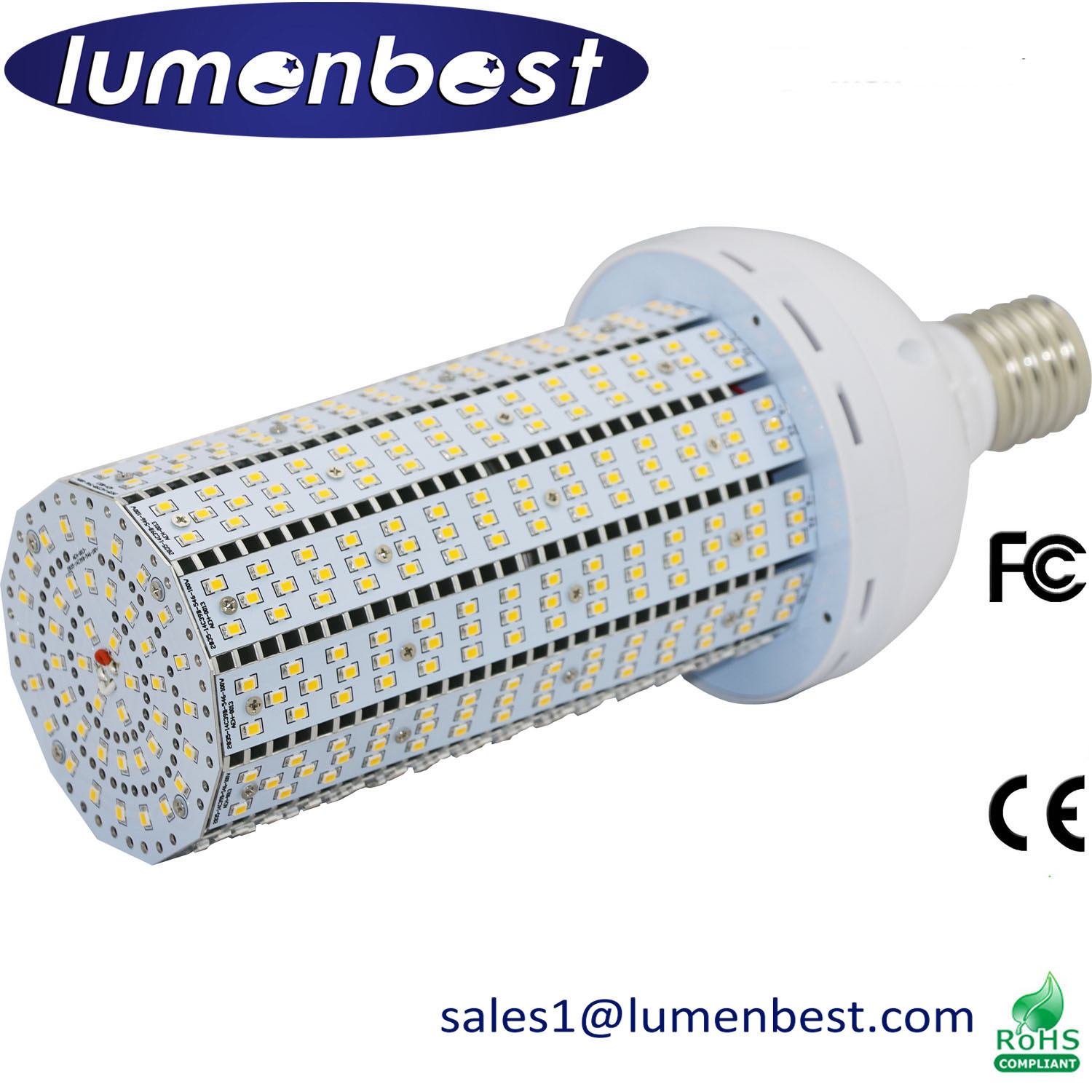 100W Pure White Aluminum LED Corn Lighting Garden Light