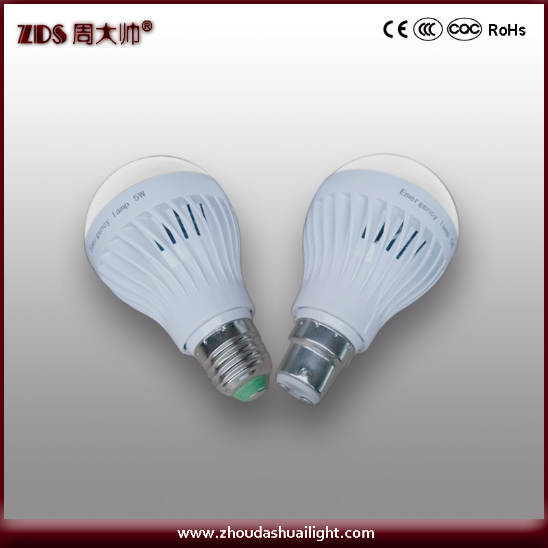 5W LED Emergency Bulb Light with CE, RoHS