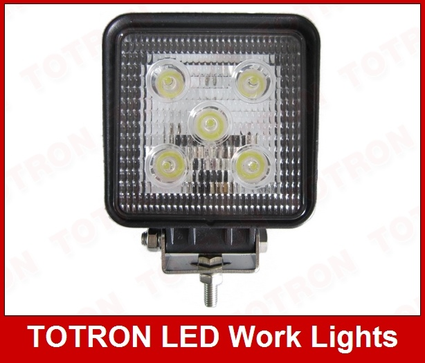 900lm 15W 9-32V Square LED Spot Work Light, T1015R