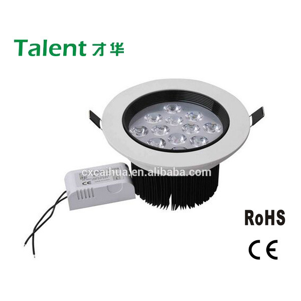 12W LED Downlight, Ceiling Light with White Aluminum House