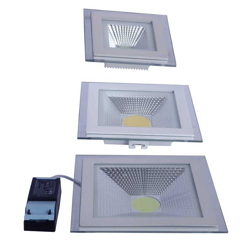 3W 6W 12W Round and Square COB LED Down Light (aluminum and glass)
