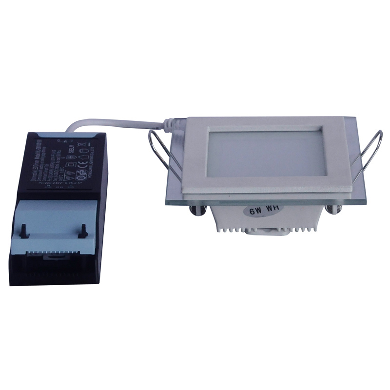 6W Aluminum and Glass Square SMD LED Down Light