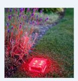 Red Outdoor LED Solar Ice Rock Crystal Glass Landscape Path Lights
