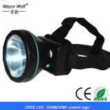 3W Cheap Plastic Bulk LED Headlight Headlamp with Long Working Time