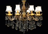 European Decorative Fabric Shade Crystal Chandelier (8120-8)