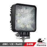 24W 1600 Lumen Square LED Work Light for Offroad