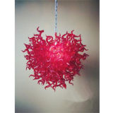 Hand Blown Art Glass Small Chandelier