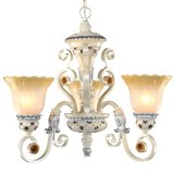 3-Light Sterling Estate Ceiling Light Fixture Brass Chandelier