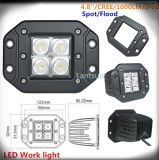 High Intensity 12W CREE LED Work Light 4X4 SUV LED off Road Light for ATV