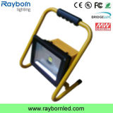 30W Outdoor Battery Powered Portable Rechargeable LED Flood Work Light