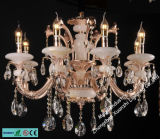 Crystal Lamp Jade and Crystal Candle Chandelier (6508-8)