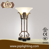 Black Base Iron Table Lamp with Resin Bowl