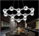 Modern Black Silver Suspension Hanging LED Chandelier