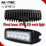 18W Flood Beam Work LED Light Lamp off-Road SUV Quad 4X4 4WD Truck Car Work Light