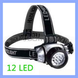 Multifunction High Power Emergency 12 LED Headlamp Head Light with Elastic Strap