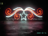 Outdoor LED Rope Light Red White Holiday Decoration Light for Christmas, Party and Wedding