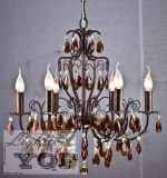 Iron Chandelier/ (YQF217660DR) /Crystal Chandelier