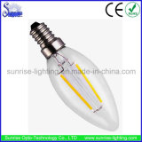 100lm/W 2W E14 C35 LED Filament Bulb Light