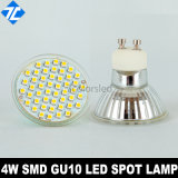4W 60LED SMD3528 LED Spot Lamp GU10 with Glass Cup No Cover