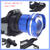 Super Bright CREE T6 LED Rechargeable Focusing Zoom Head Lamp Head Lamp Headlamp (HL013)