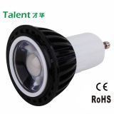 3W 5W GU10 LED COB Cup Lampwith White Reflection