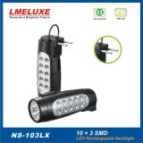 portable SMD LED Rechargeable Emergency Flashlight