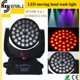 LED Moving Head RGBW 4in1 36PCS*10W Washing Effect Light with Zoom Function (HL-005YS)