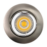 Die Cast Aluminum GU10 MR16 Satin Nickel Round Fixed Recessed LED Lamp (LT1000)