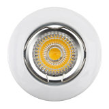 Die Cast Aluminum GU10 MR16 White Round Fixed Recessed LED Spotlight (LT1000)