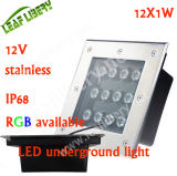 12W LED Ground Light, Garden Light 12V LED, Square Underground Light
