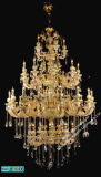 24k Gold Crystal Light Chandelier Jade Chandelier (9188-5-10-16-8)
