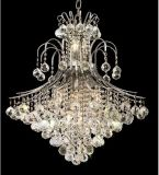 10 Lights Candle Chrome Crystal Chandelier