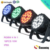 IP65 LED PAR Lighting 18*10W RGBW LED PAR 64