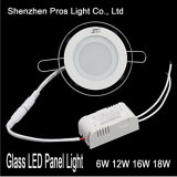 Glass LED Panel Light 6W Recessed for Ceiling Lamp
