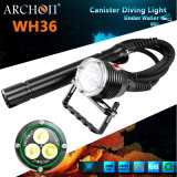 Aluminum Magnetic Rechargeable CREE U2 LED*3 Diving Lights