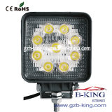IP67 27W Square Epistar LED Work Light