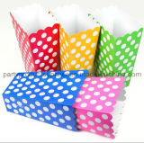Party Supplies Colored Paper Popcorn Box
