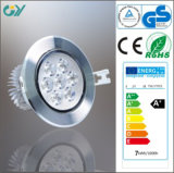 3000k 9W Aluminium LED Down Light with CE RoHS