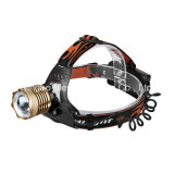 CREE LED Portable Camping Outdoor Light Rechargeable Zoom Headlamp (MK-3376)