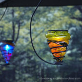 Solar Powered Hanging Decorative Art Glass LED Light