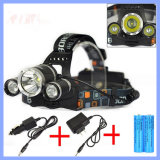 Super Bright 30W 5000lm 3*CREE Xm-L T6 Rechargeable LED Headlamp (WL130)