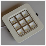 9W CE Square (round angle) Cool White LED Ceiling Light