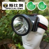 5W 7W 10W LED Headlamp with 3PCS*Rechargeable Lithium Battery for Camping Outdoor and Coal Miner Lamp Mining Headlamp