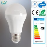 Aluminum and Plastic A60 9W 6000k LED Light Bulb