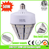 E27 50W Pure White LED Pole Street Light with ETL Approved
