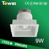 9W LED Down Light, Recessed LED Down Light, Aluminum LED Down Light, Ceiling LED Down Light, Square LED Down Light
