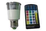 E27 RGB 16 Color LED Bulb Spotlight with IR Remote