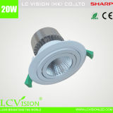 LED Lighting/20W Sharp COB LED Down Light with Fan Heatsink/1900lm
